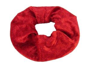 "Haargummi aus Samt ""Rot"" Farbwahl"