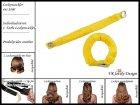 """Lockenwickler mit Haarsträhnenhülle - Locken mit 2 Stück """"Gelb"""" (Wickler, Papilotten) Farbwahl"""