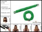 """Lockenwickler mit Haarsträhnenhülle - Locken mit 2 Stück """"Grasgrün"""" (Wickler, Papilotten) Farbwahl"""
