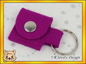 """Schlüsselanhänger Tasche aus Filz """"Pink"""" Farbwahl"""