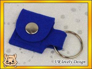"""Schlüsselanhänger Tasche aus Filz """"Royalblau"""" Farbwahl"""