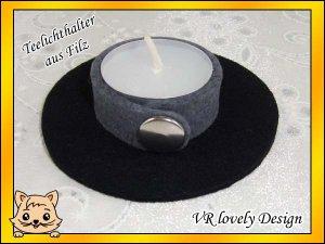 """Teelichthalter Kerzenhalter Kerzenständer aus Filz """"Shadow"""" Farbwahl"""