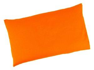 """Buchweizenkissen 50x30cm """"Orange"""" Farbwahl"""