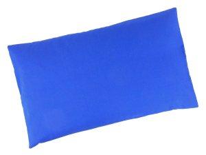 """Buchweizenkissen 50x30cm """"Blau"""" Farbwahl"""
