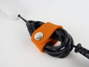 """Kabelhalter Groß """"Orange"""" Farbwahl"""