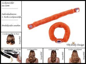 """Lockenwickler - Locken mit 2 Stück """"Orange"""" Farbwahl"""