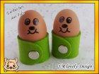 Eierbecher aus Filz