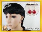 Ohrringe Perlen aus Glaswachsperlen