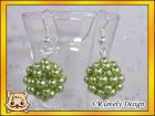 Ohrringe Perlenkugel aus Glaswachsperlen