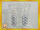 Ohrringe Perlenstab aus Glaswachsperlen